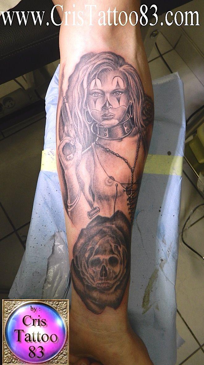 tattoo woman with a gun