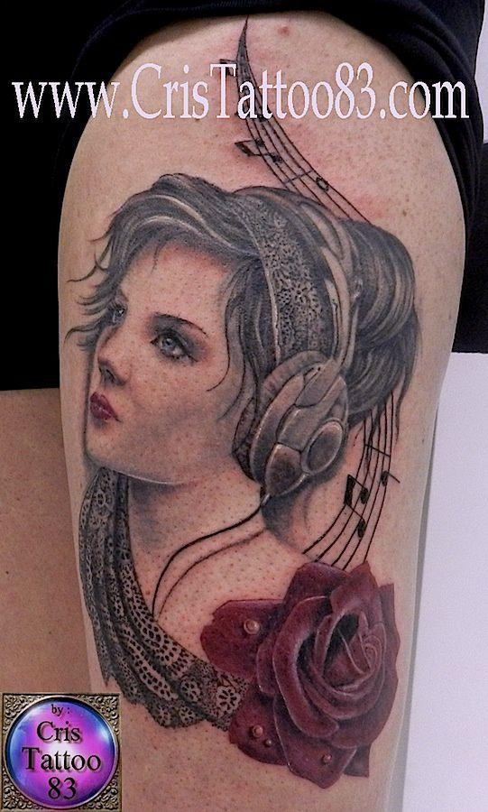 tatouage femme cuisse