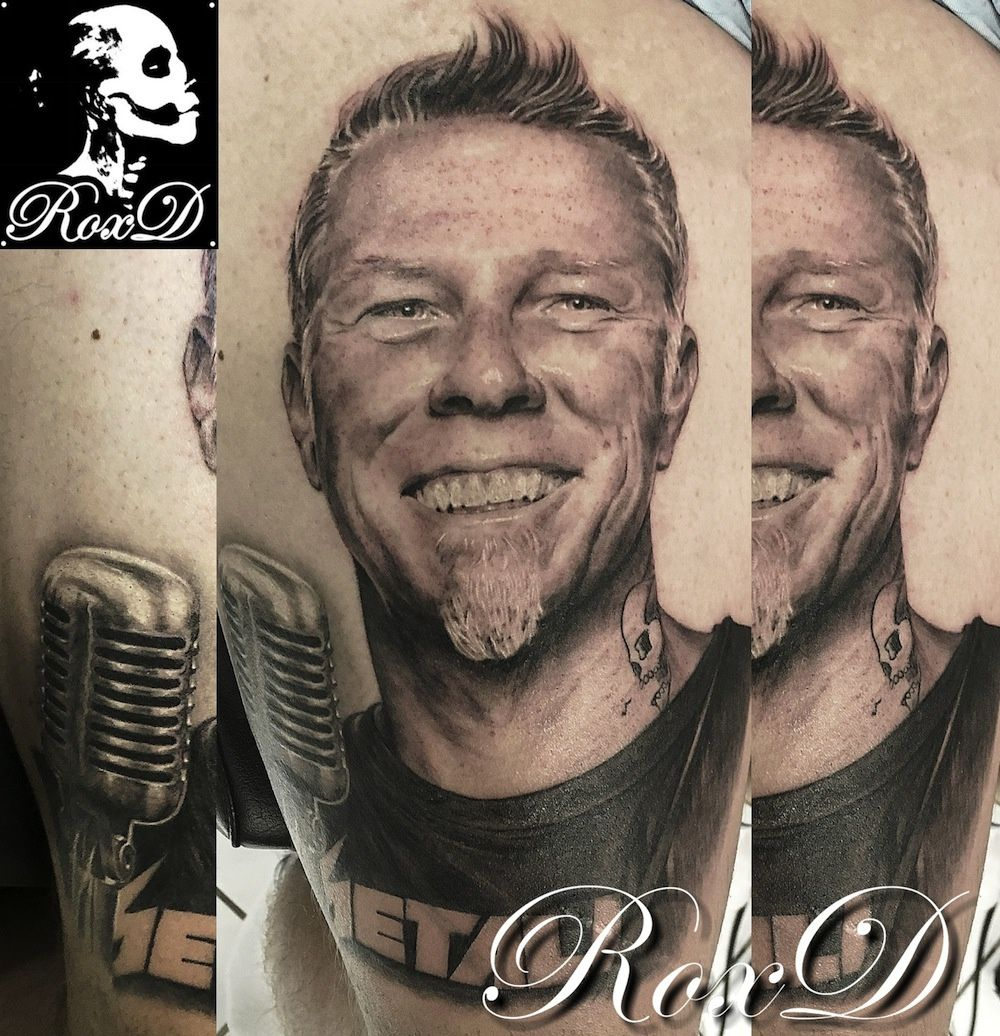 Metallica tattoo portrait
