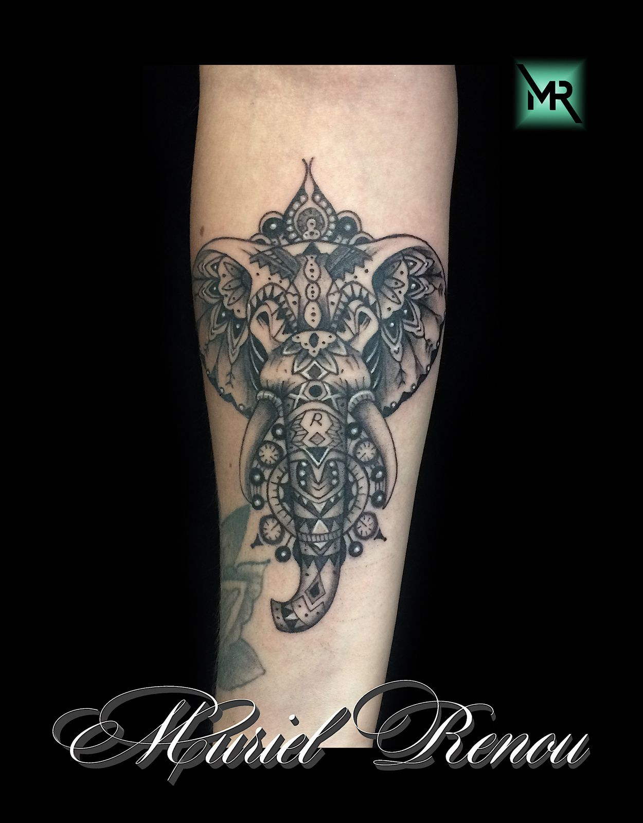 tatouage elephant mandala cristattoo83. Black Bedroom Furniture Sets. Home Design Ideas