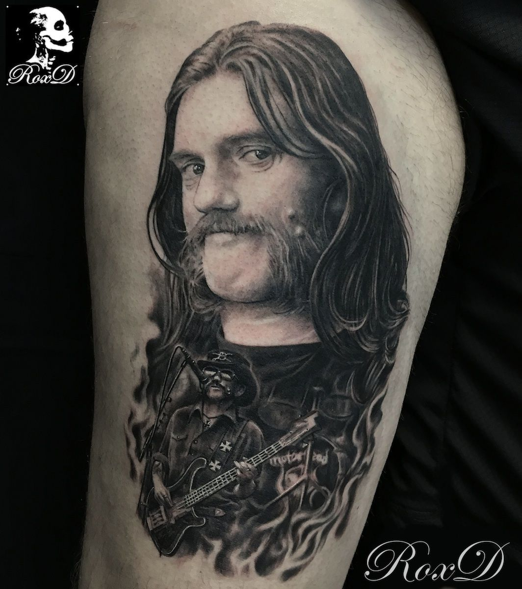Lemmy tattoo portrait