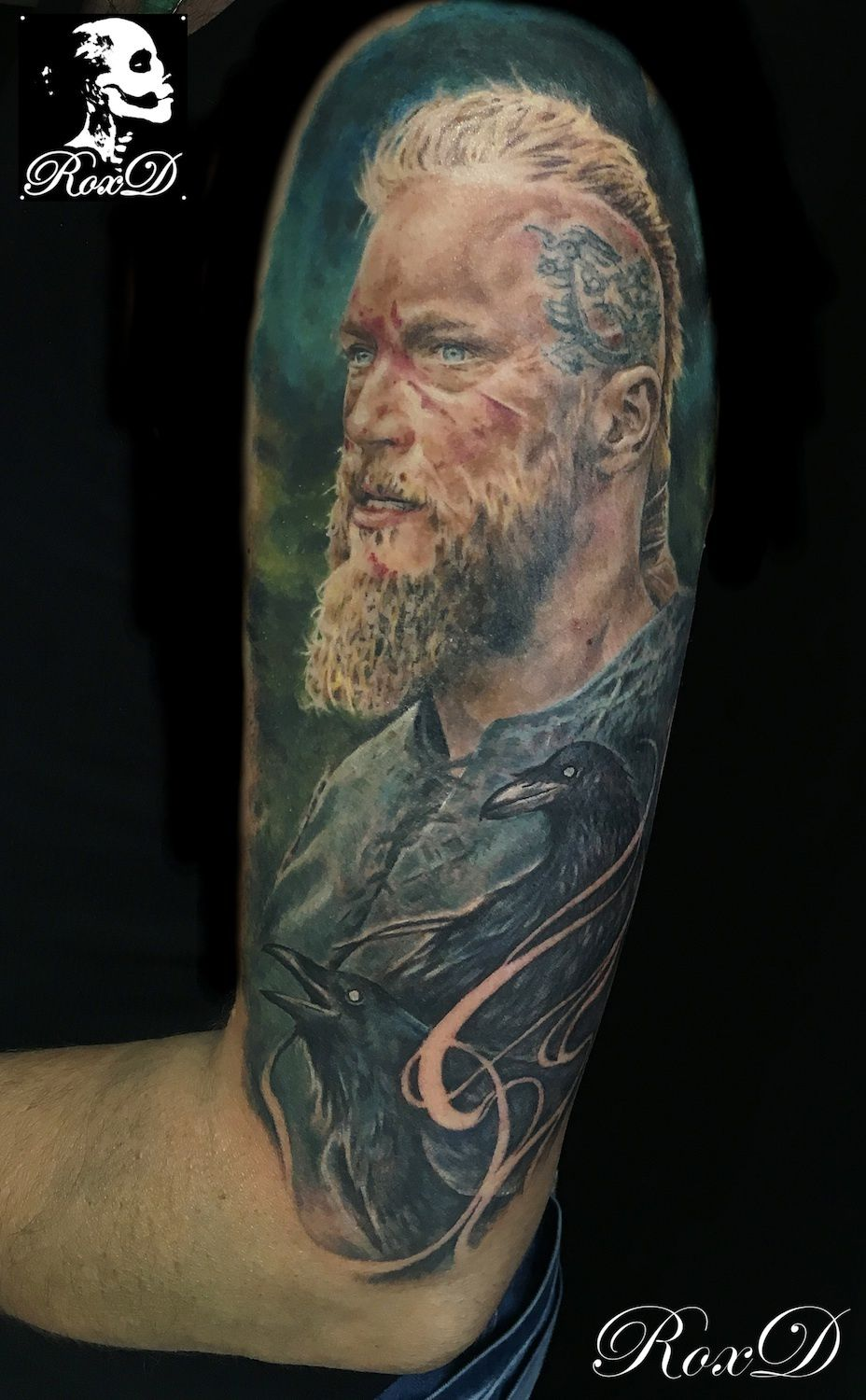 tattoo portrait Ragnar Viking