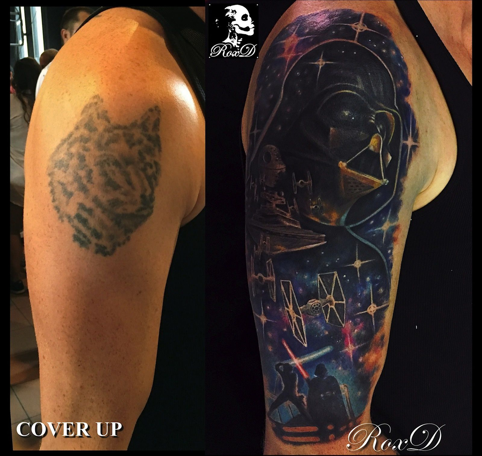 star wars tattoo cover up