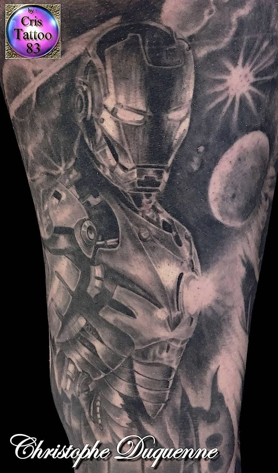 tatouage iron man