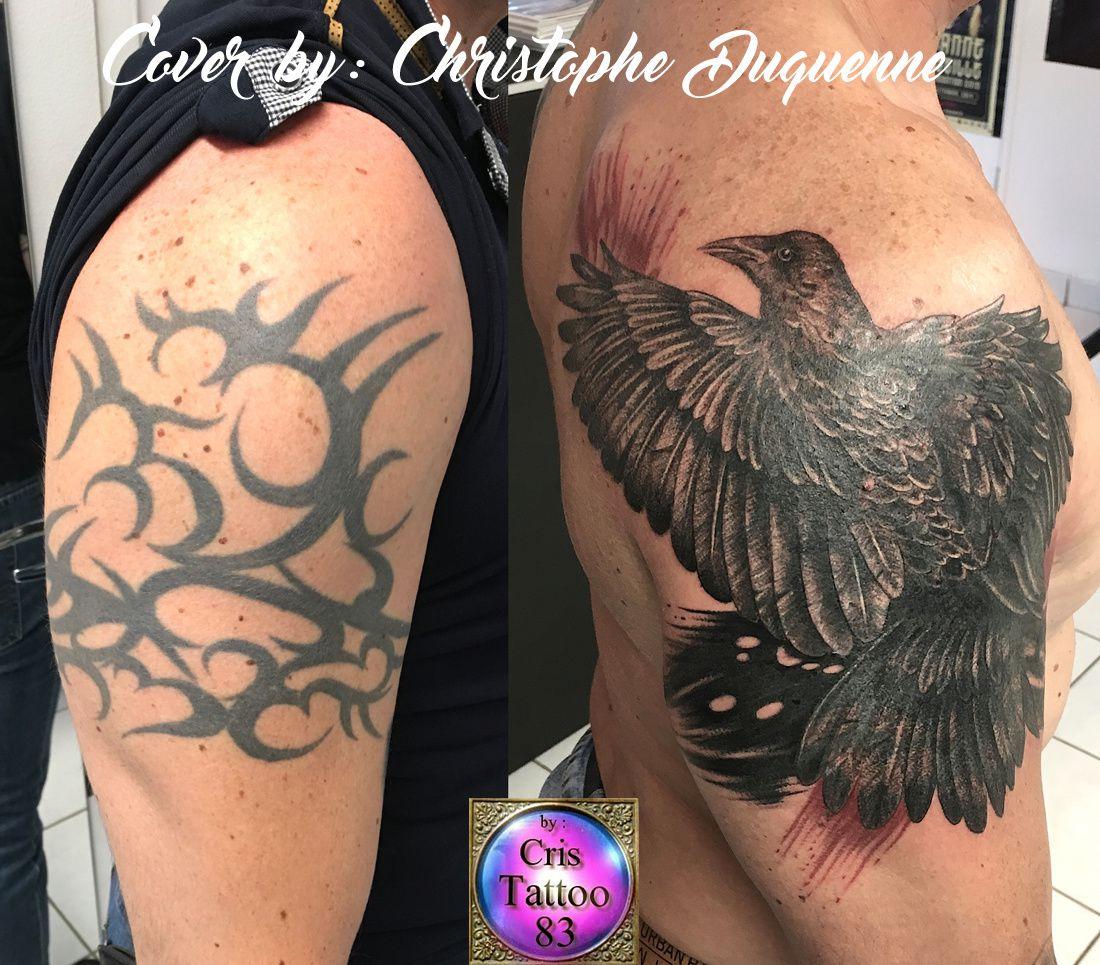 Cover tattoo Before!/ Recouvrement tatouage avant !