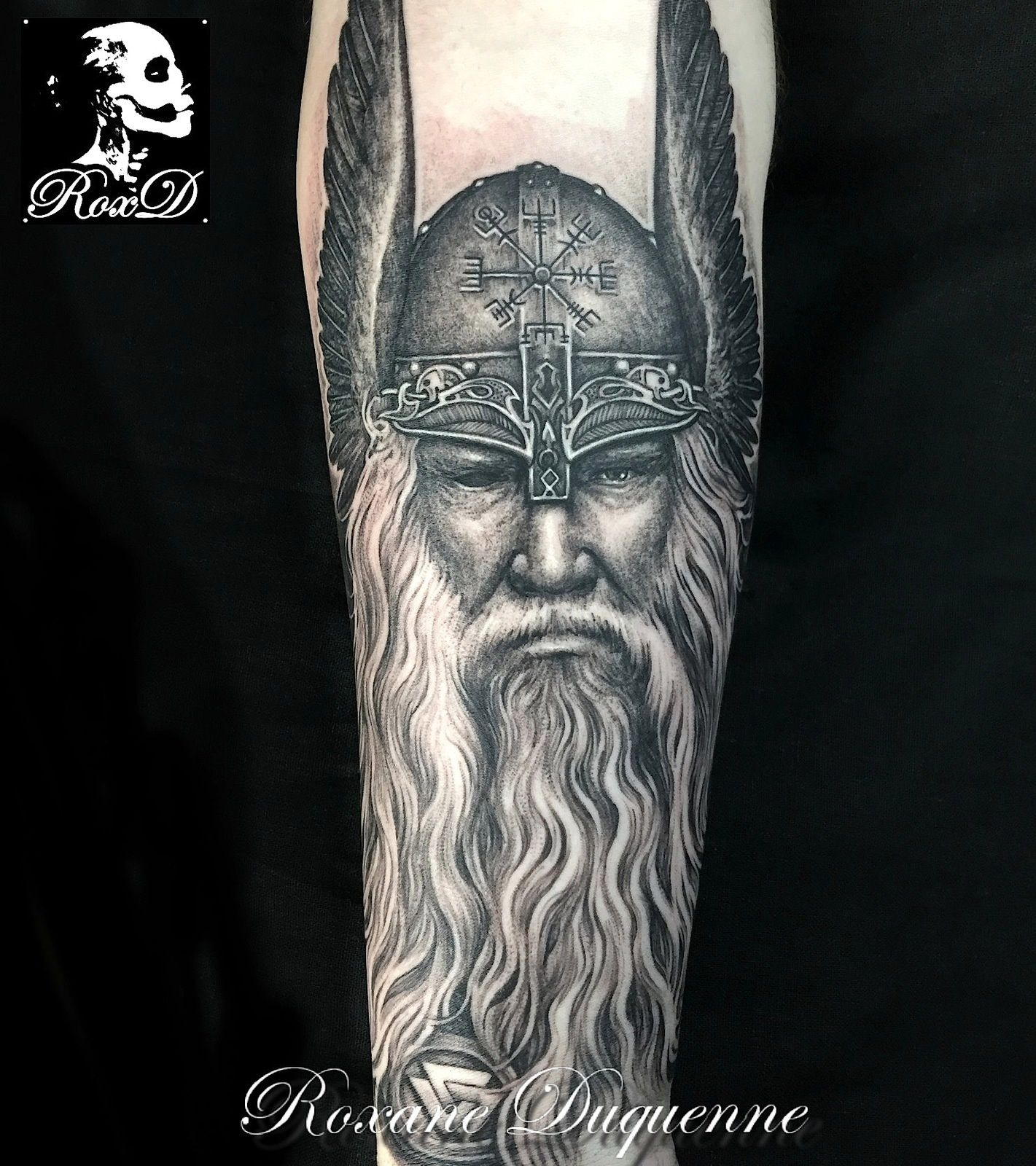 odin viking tattoo roxane duquenne