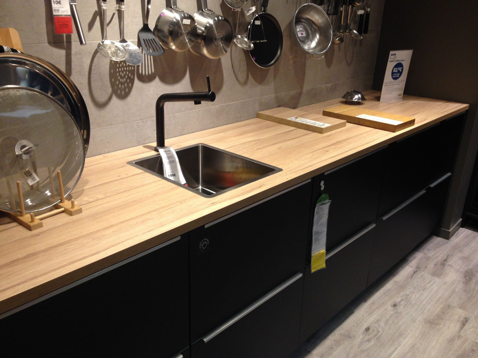 Plan De Travail Ikea Bois Massif comparaison plan de travauil bois ou stratifié cuisine ikea