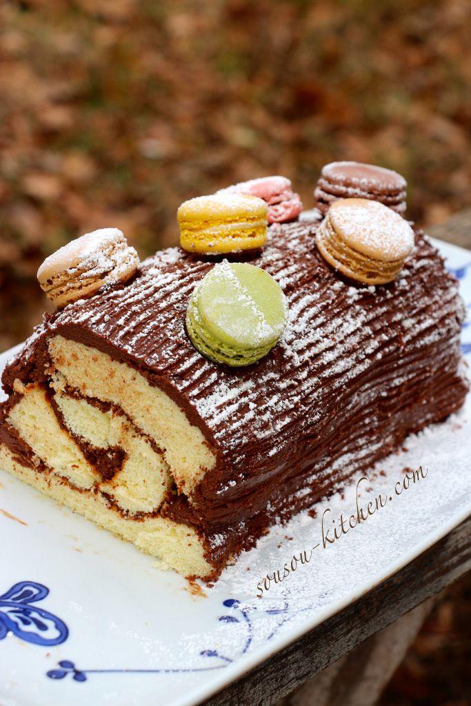 Christmas Chocolate Log Recipe بيسكوي رولي بالشوكولا كلاسيكي واقتصادي