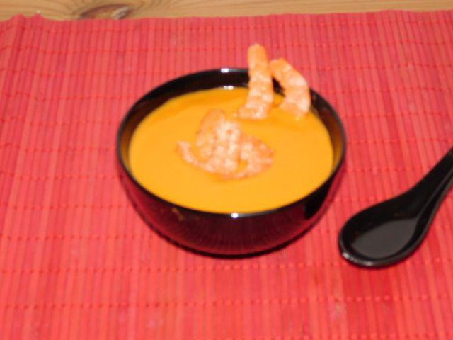 Soupe crevettes-coco.
