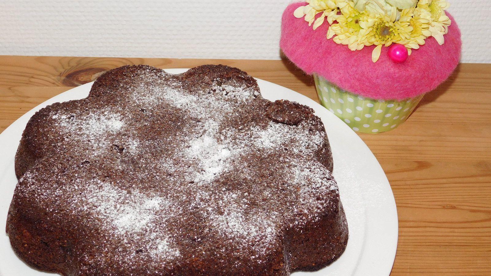 Gâteau au chocolat aux poires.