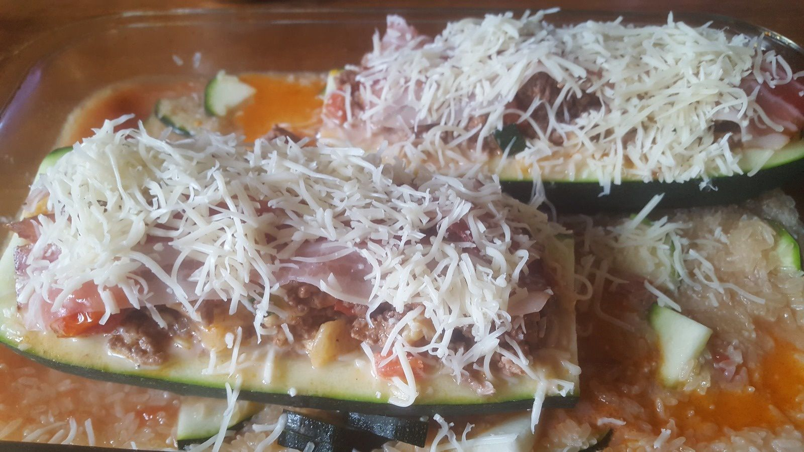 Courgettes farcies.