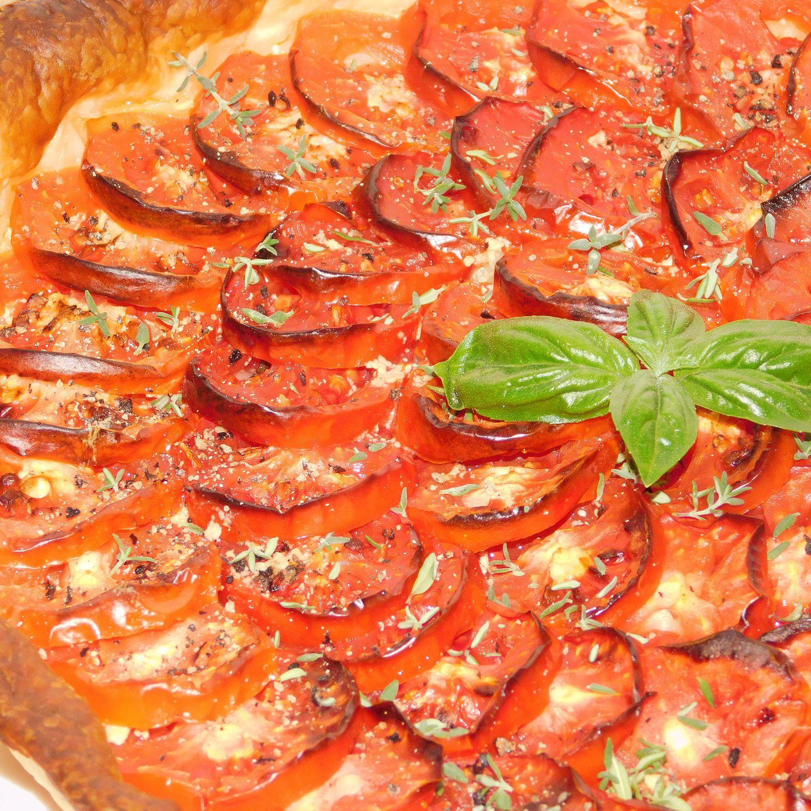 Tarte à la tomate.