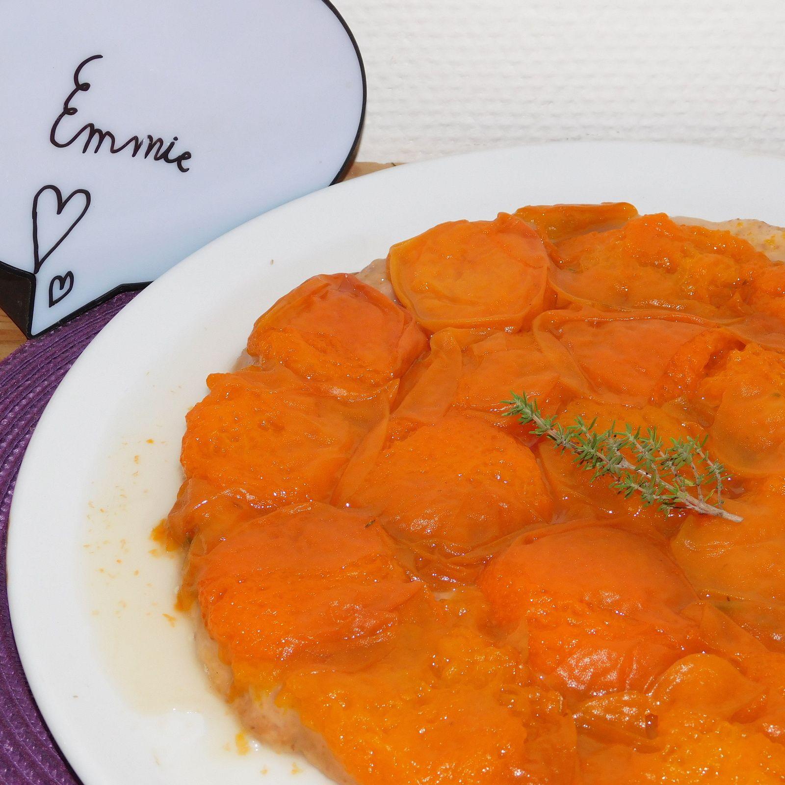 Tatin d'abricots au thym.
