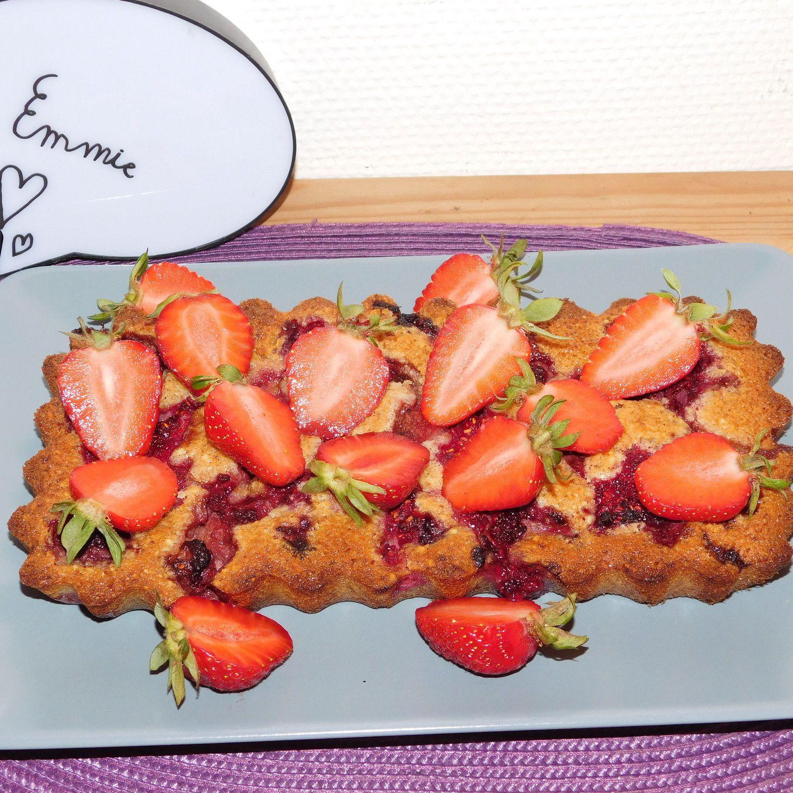 Financier  fraises-framboises