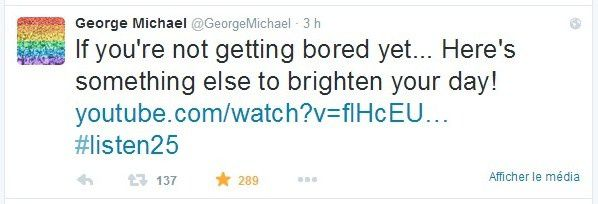 George Michael Yesterday and Twitter !!