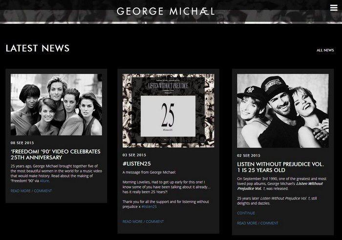 GeorgeMichael.com  #Listen25 !!