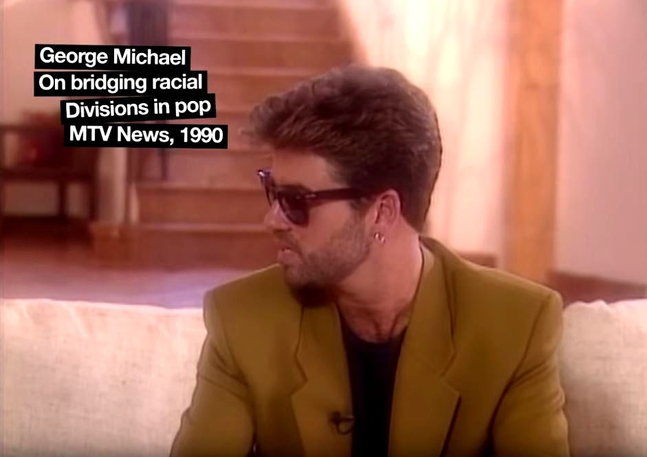 GEORGE MICHAEL - IN POP MTV NEWS 1990 !!