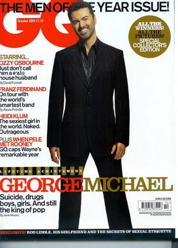 GEORGE MICHAEL - INTERVIEW DANS GQ MAGAZINE UK 2004 - L'HOMME DE L'ANNEE !!