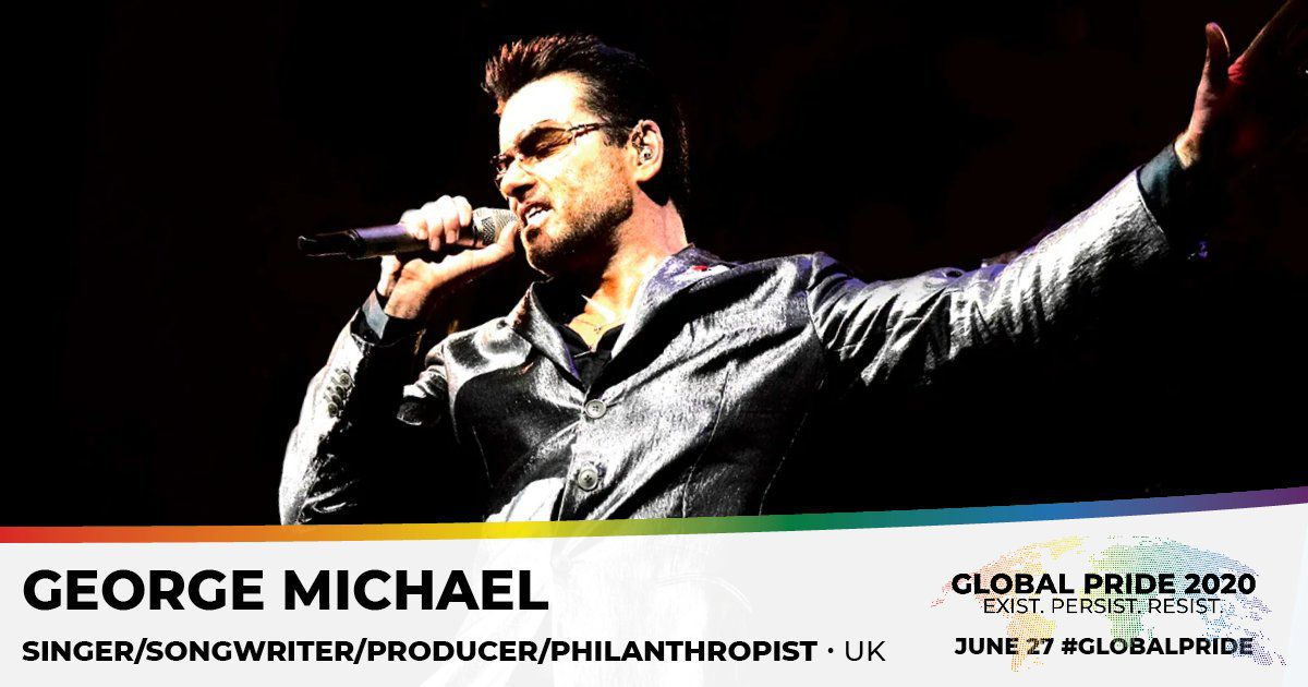 GEORGE MICHAEL - IL SERA MIS A L'HONNEUR POUR CELEBRER LE GLOBAL PRIDE 2020 !!