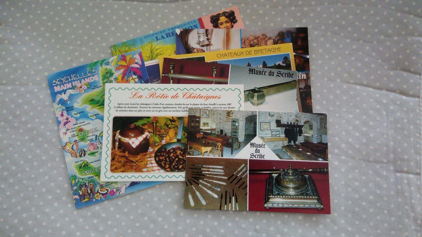 Echange CP chez Amélie et courrier.....