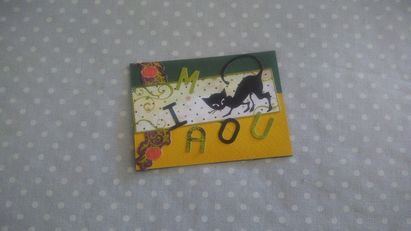 ATC scrappée chat.....