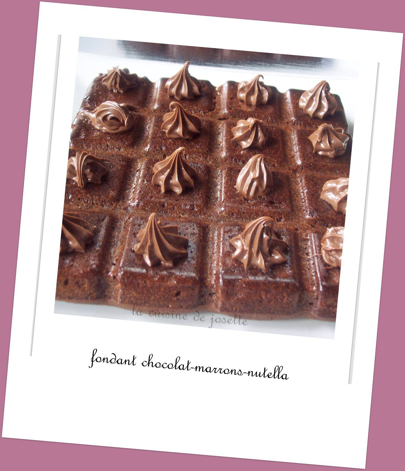 fondant facile au chocolat-marrons-nutella