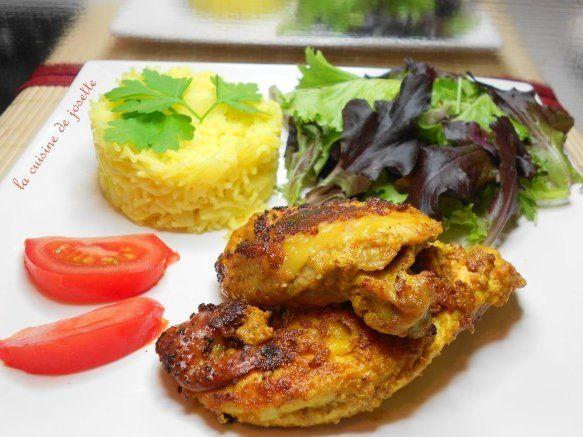 poulet tandoori au riz épicés