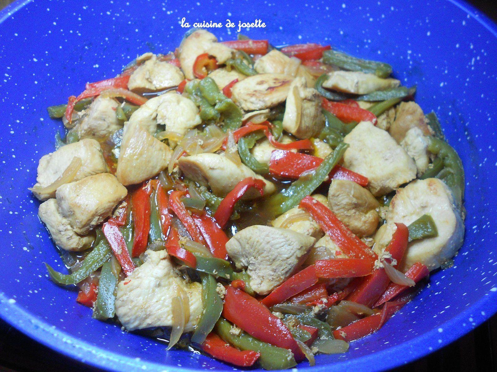 nouilles chinoise sautées au poulet