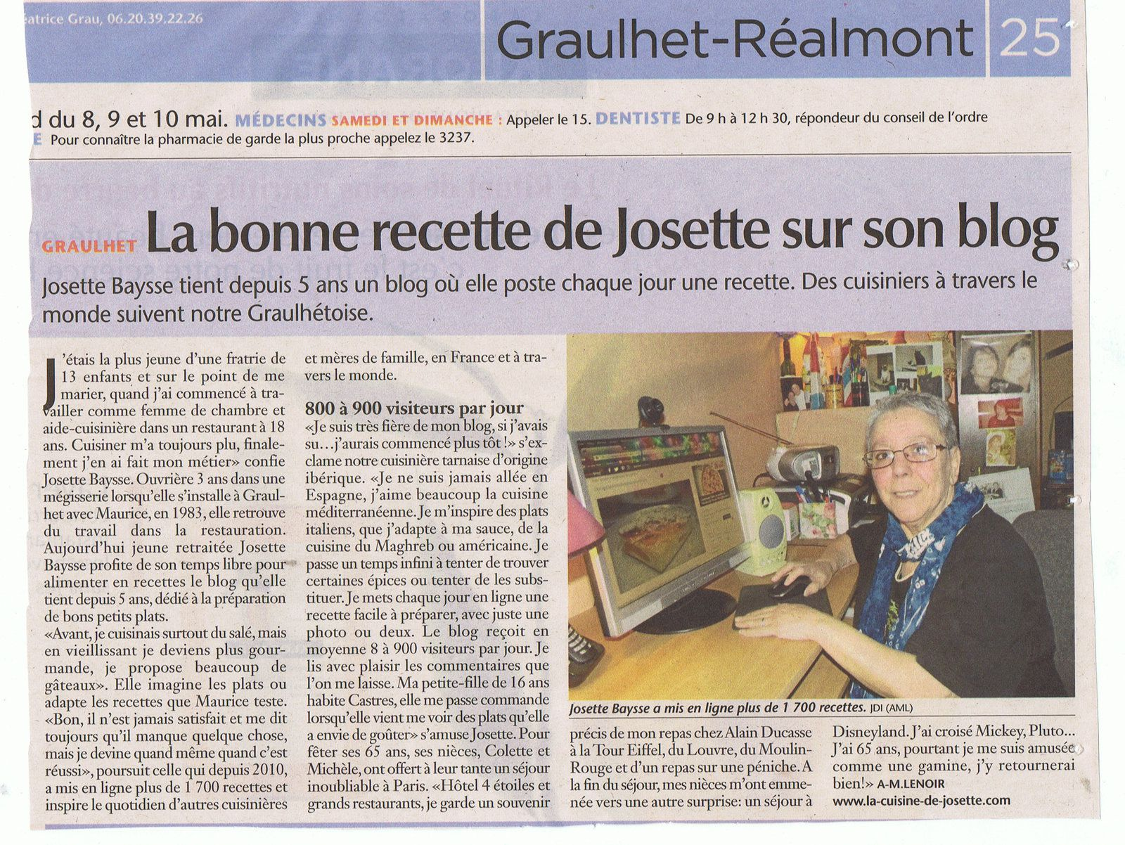 "interview du journal ""journal d'ici"""