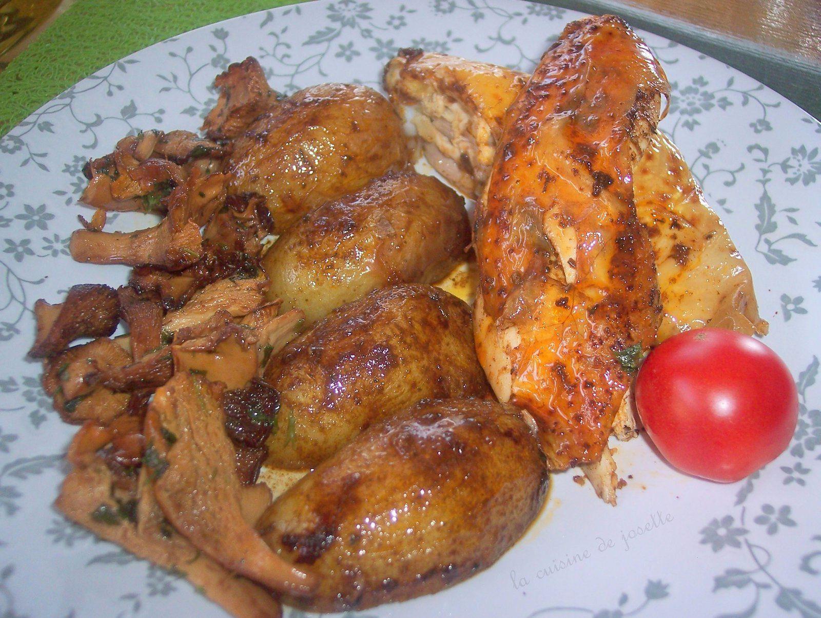 poulet mariné et roti aux pommes de terre la prime breizh