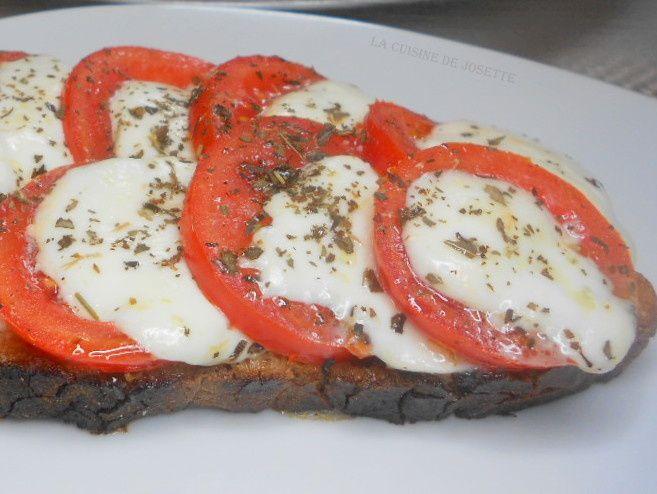tomate mozzarella chaude