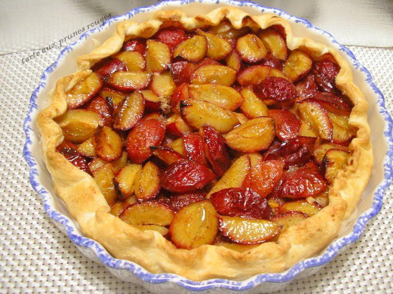 tarte aux prunes rouges