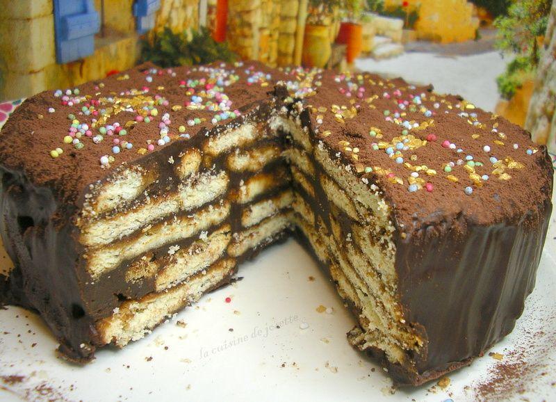 gâteau au petit beurre au chocolat