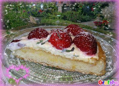 tarte aux fraises à la crème au mascarpone