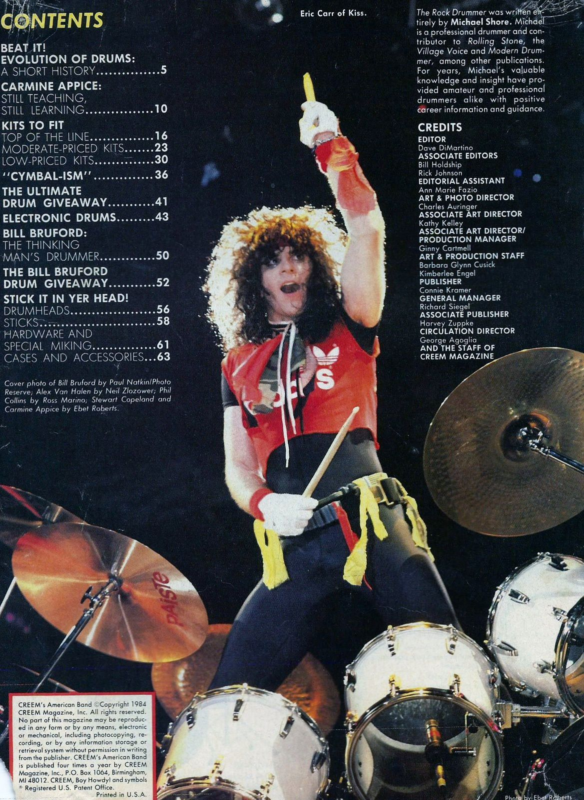 Eric Carr, KISS - photo by Ebel Roberts