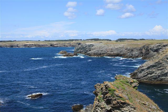 Belle Ile, vue depuis la Pointe du Grand Guet vers Port de Donnant