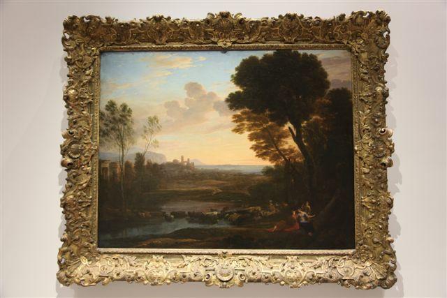 Paysage avec Paris et Cerrone peint par Claude Gelée Lorrain (1648). Cerrone prédit à Paris qu'il la quittera pour une autre et prédit la chute de Troie.