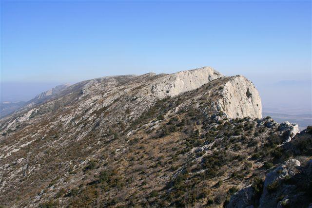 Crêtes de la montagne Sainte-Victoire