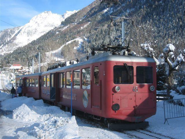 En gare de Chamonix