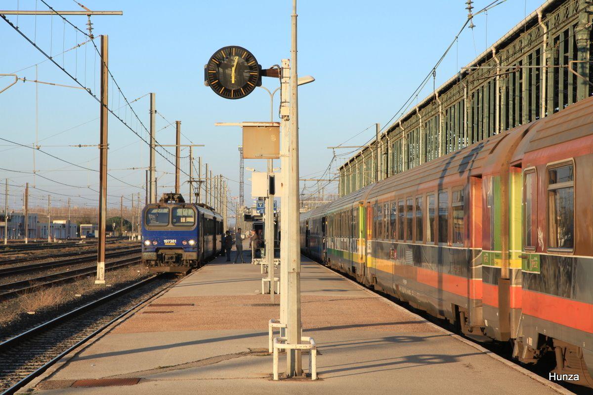 Narbonne : Z 7381 à destination de Carcassonne (8 mars 2014)