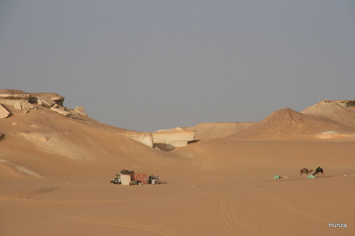 Emplacement de notre second bivouac à El Haggar (= la pierre)