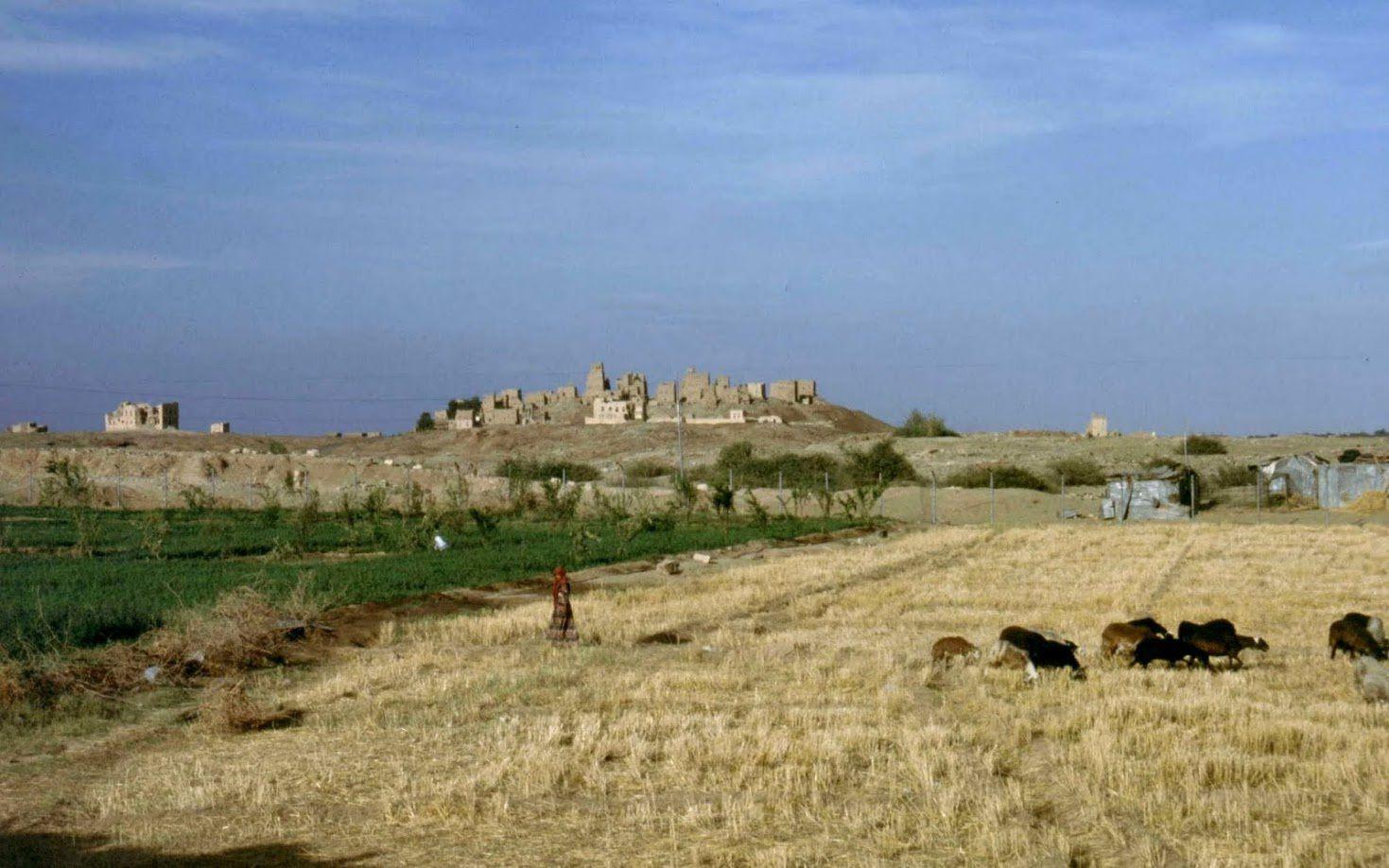 L'ancien village de Ma'rib bombardé par les Égyptiens durant la guerre