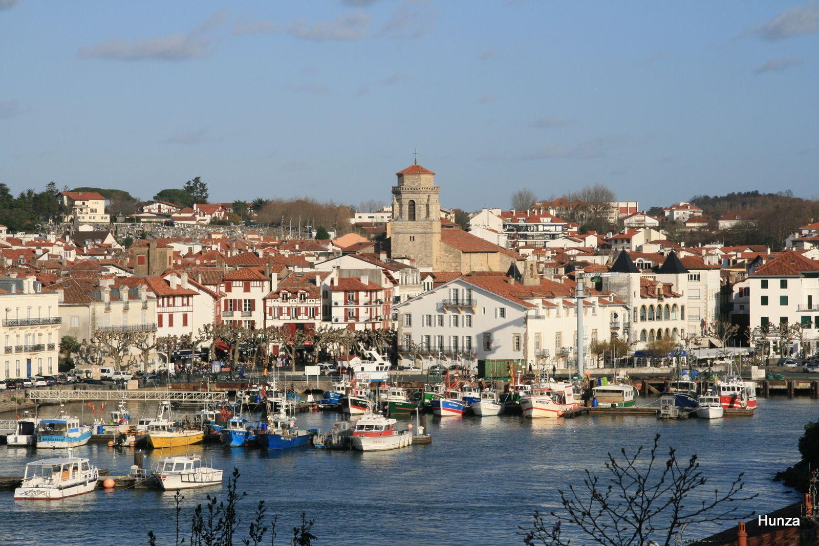 Le port de Saint-Jean de Luz vu depuis le haut de Ciboure
