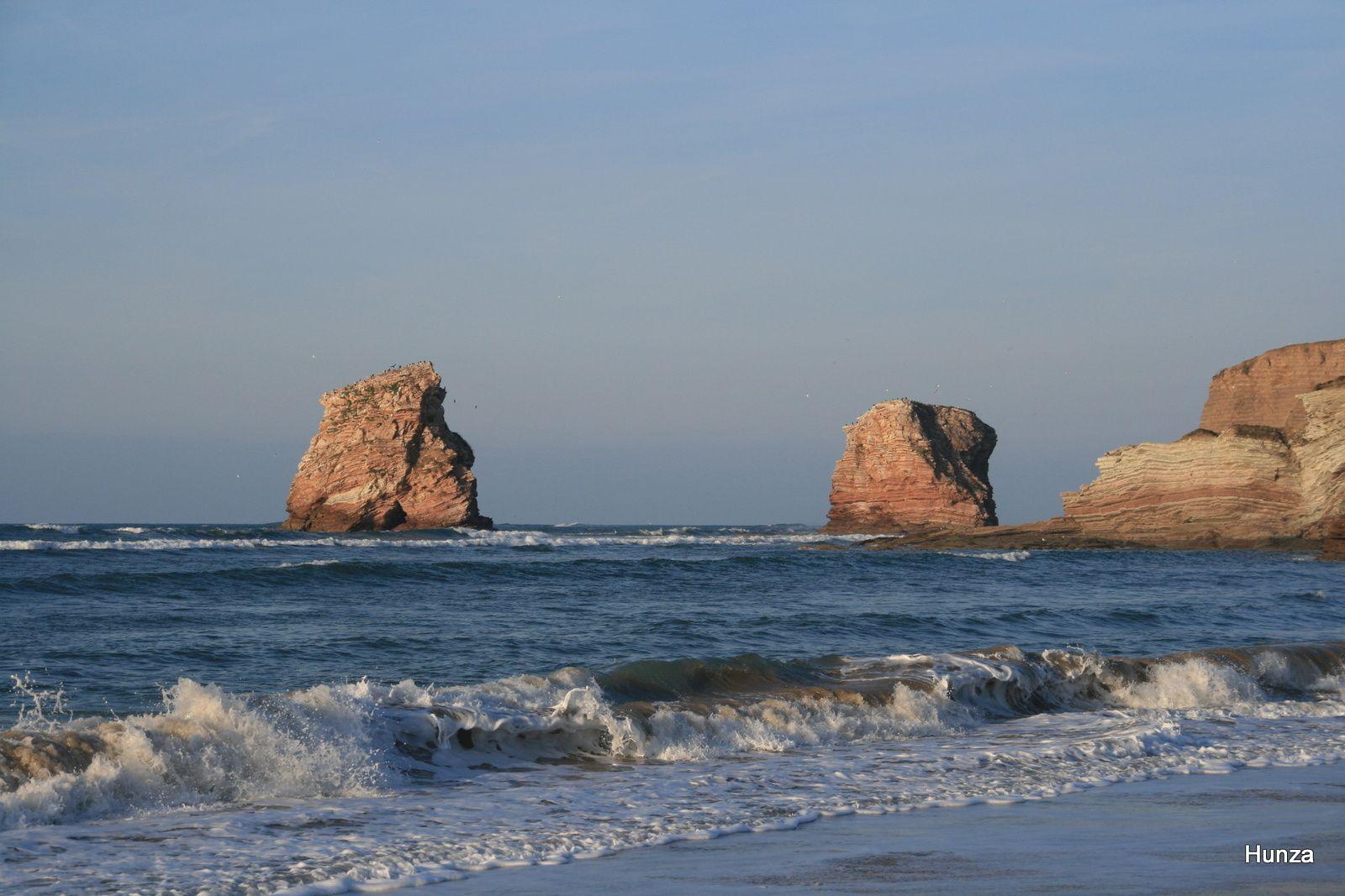 Deux Jumeauxvus de la plage d'Hendaye