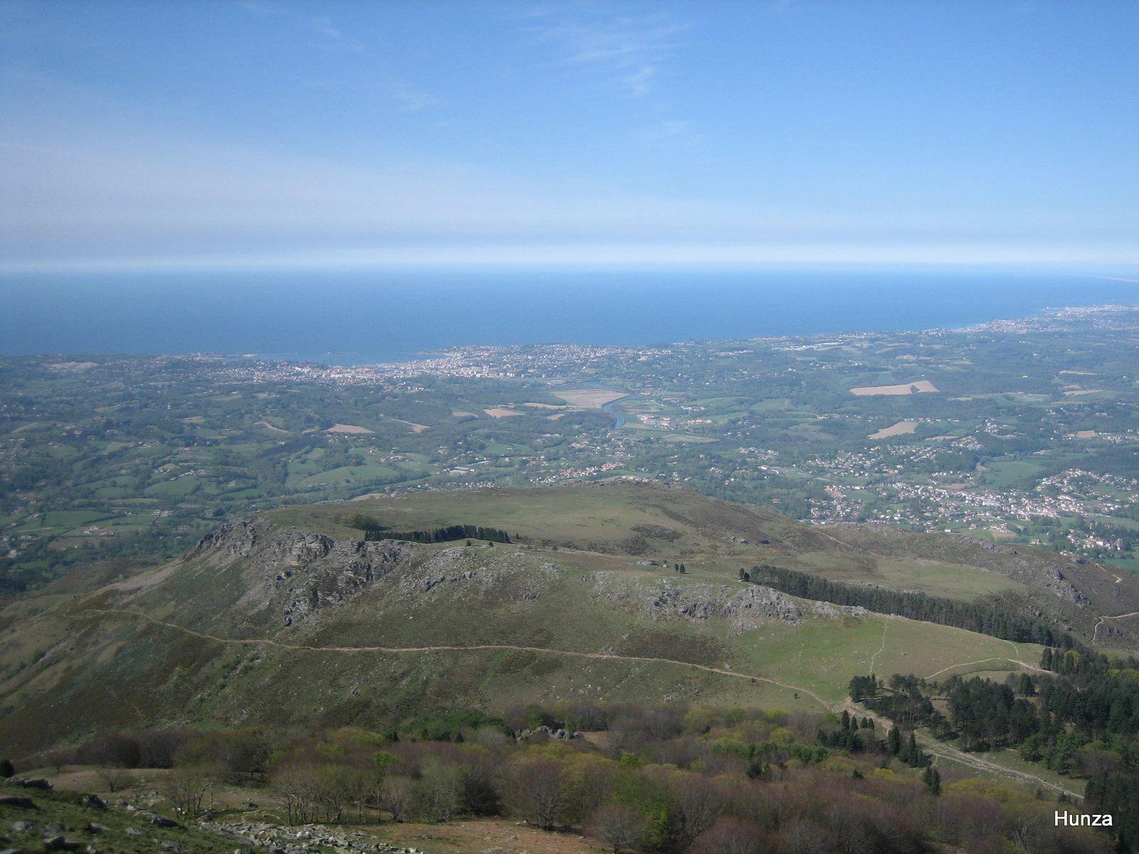 Panorama depuis la Rhune vers Saint-Jean de Luz