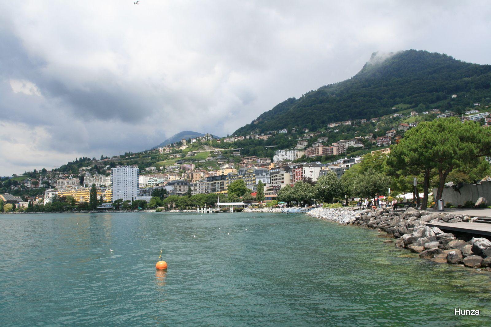 Les bords du lac Léman à Montreux