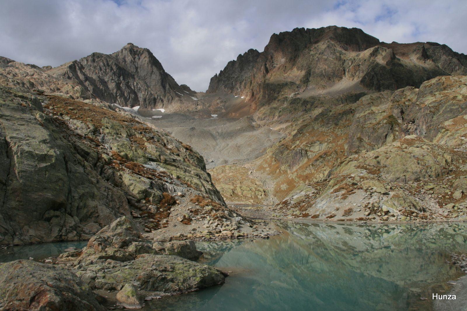Le lac Blanc et le col du Belvédère