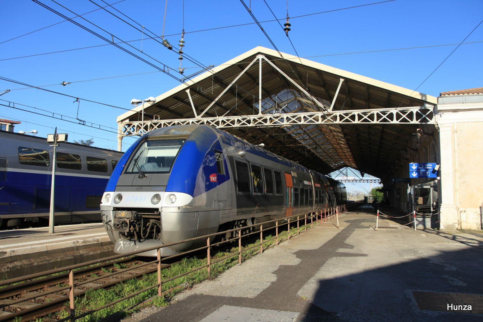 Carcassonne : départ de la Z27641 assurant le TER n°876214 Narbonne - Toulouse (mardi 28 mars 2017)