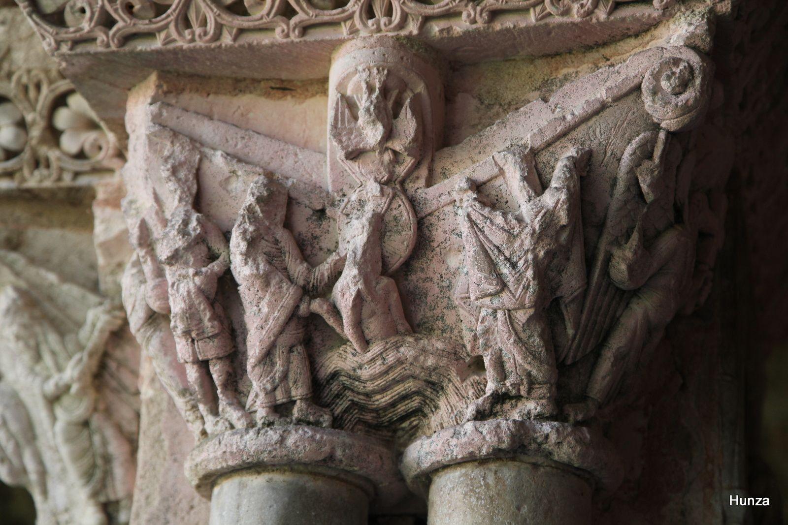 Moissac, chapiteau du cloître roman