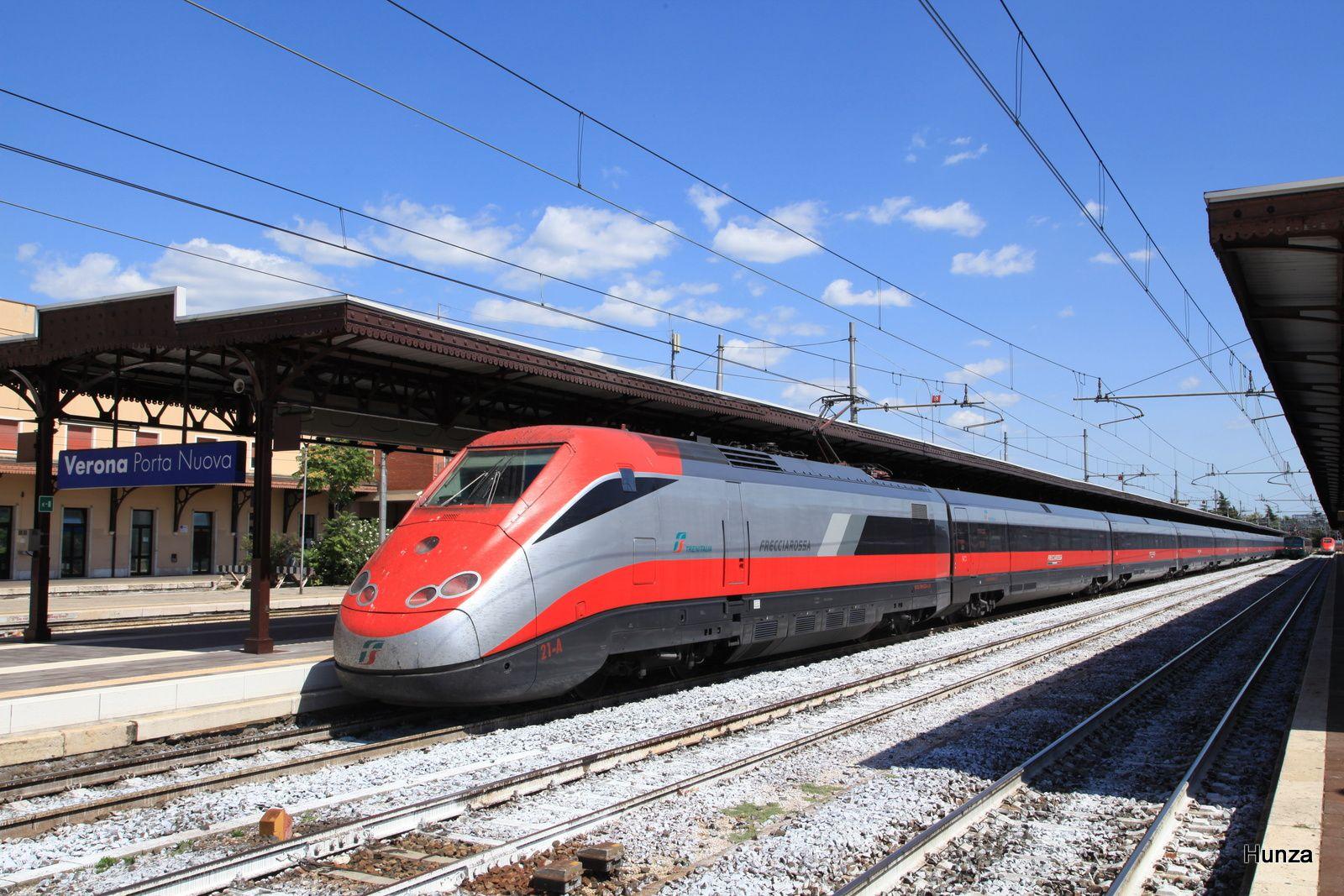 ETR 500 Frecciarossa en gare de Vérone (21 août 2017)